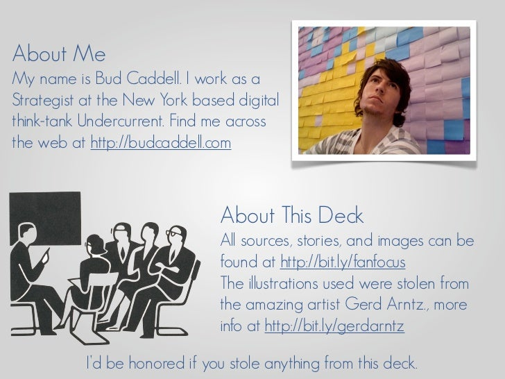 About Me My name is Bud Caddell. I work as a Strategist at the New York based digital think-tank Undercurrent. Find me acr...