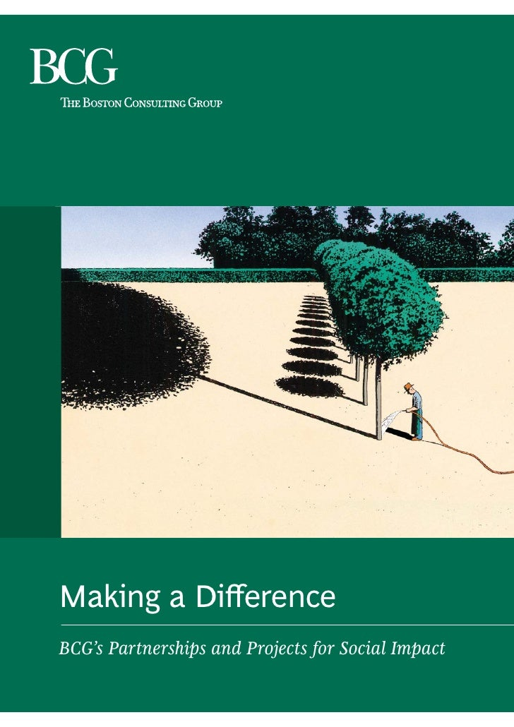 Making a Difference BCG's Partnerships and Projects for Social Impact