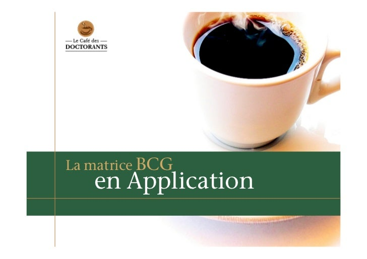 La matrice BCG    en Application