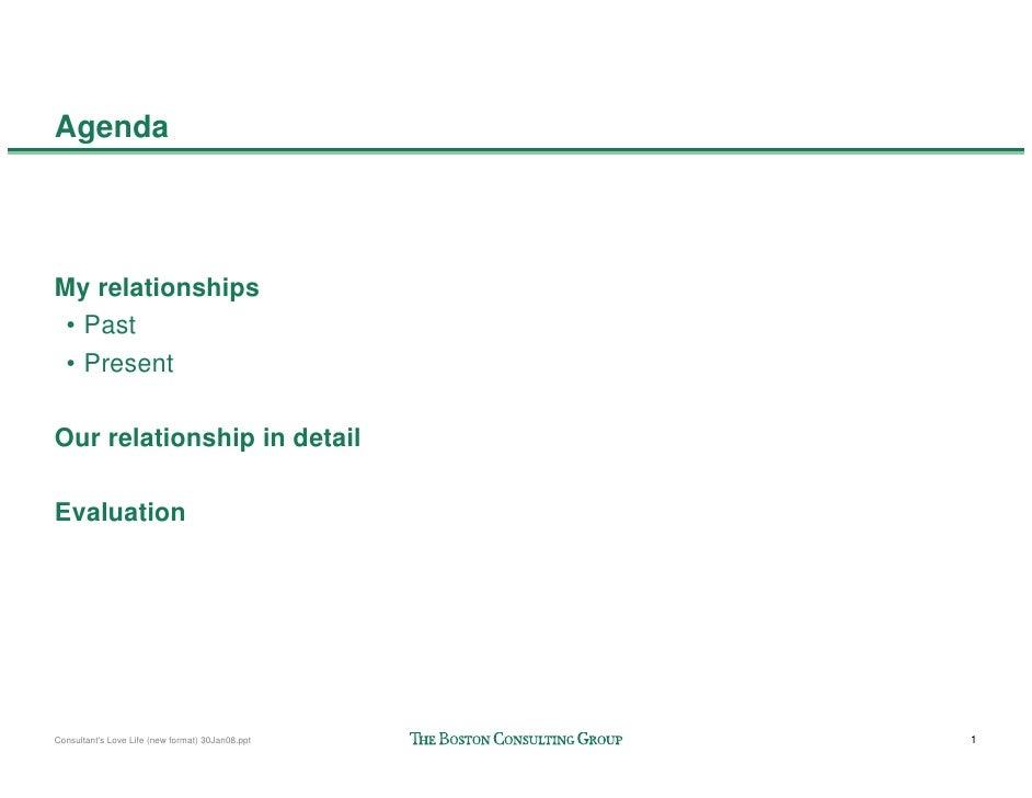 Bcg  Consultants Love Life Slide 2