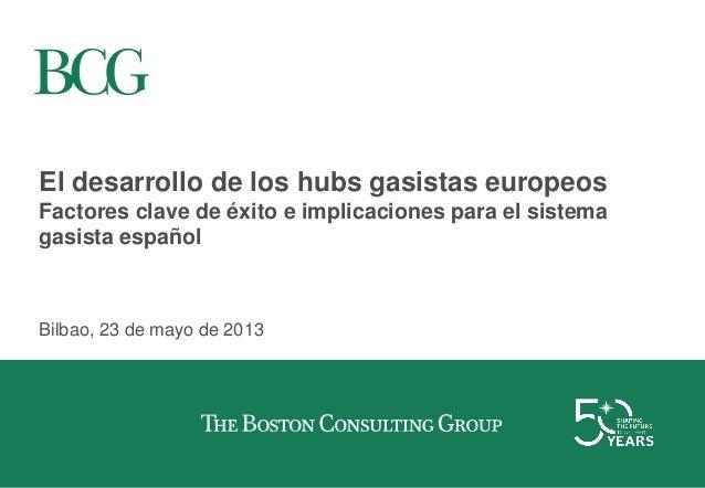 El desarrollo de los hubs gasistas europeos Factores clave de éxito e implicaciones para el sistema gasista español Bilbao...