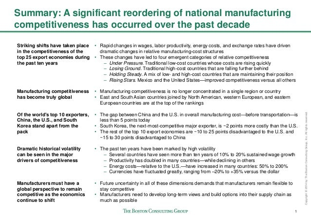 The Shifting Economics of Global Manufacturing Slide 2