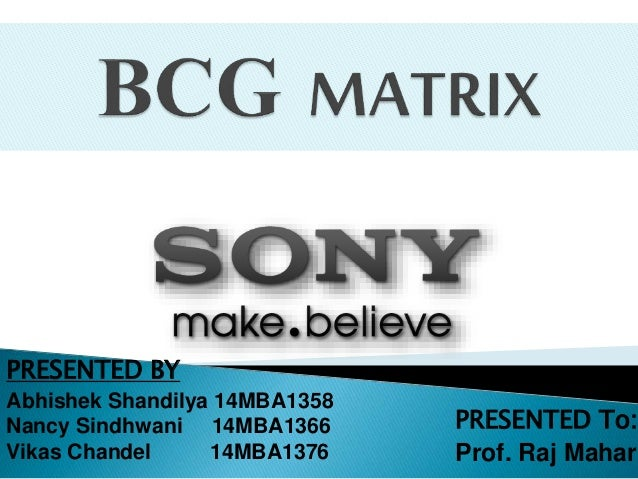 sony corporation bcg matrix