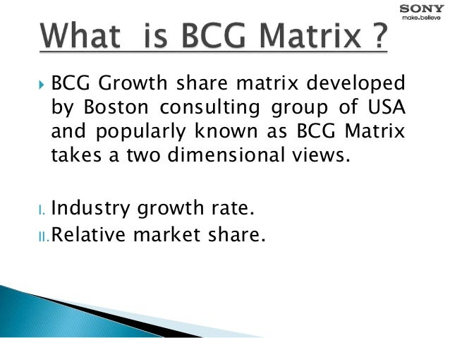 BCG Matrix of Sony Corporation