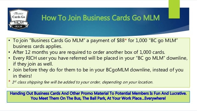 Business cards go mlm 3 how to join business cards go mlm colourmoves