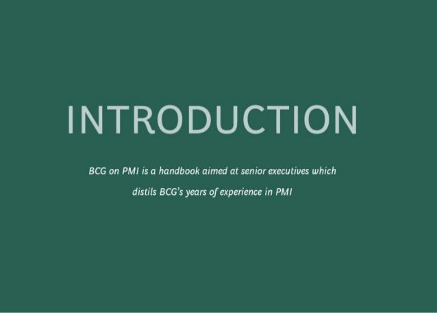 BCG on Postmerger Integration: A handbook for senior executives