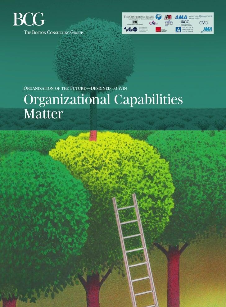 Organization of the Future—Designed to WinOrganizational CapabilitiesMatter