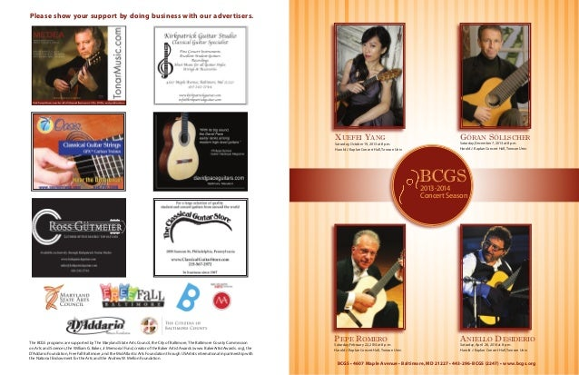 Please show your support by doing business with our advertisers.  Xuefei Yang  Saturday, October 19, 2013 at 8 p.m. Harold...