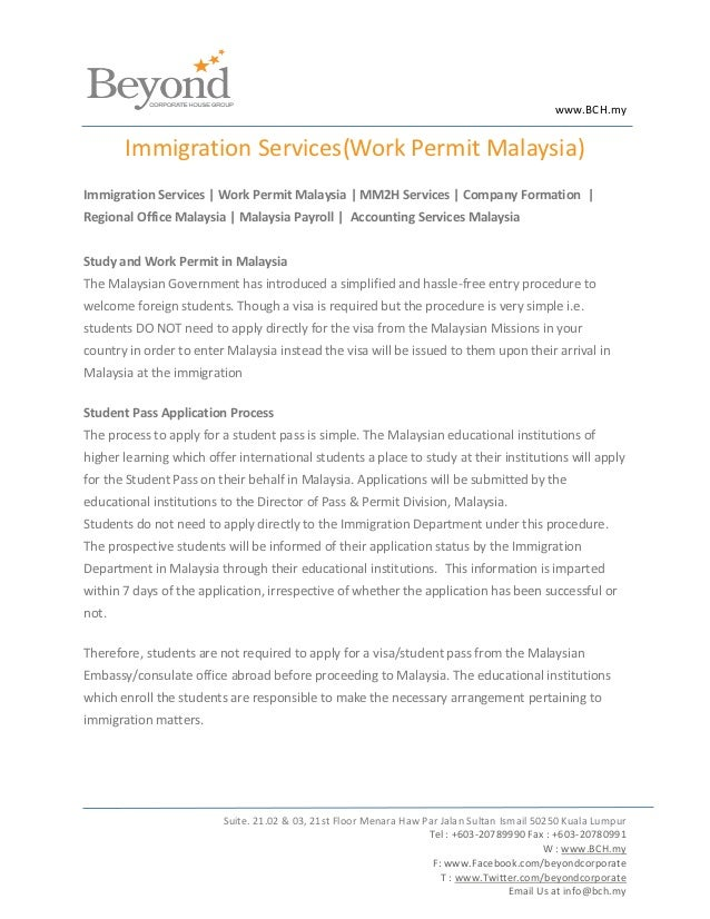 www.BCH.my       Immigration Services(Work Permit Malaysia)Immigration Services | Work Permit Malaysia | MM2H Services | C...
