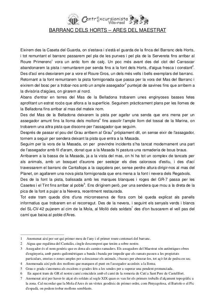 BARRANCDELSHORTS–ARESDELMAESTRAT                                    RECORREGUTAPROXIMAT:EixiremdeslaCasetadelG...
