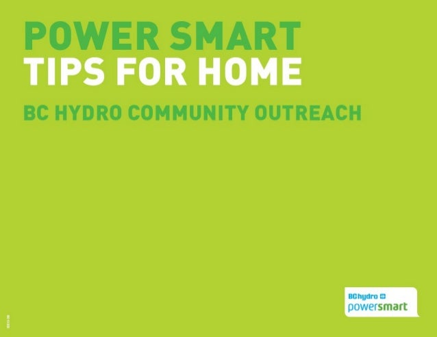 Power Smart Tips for the Home