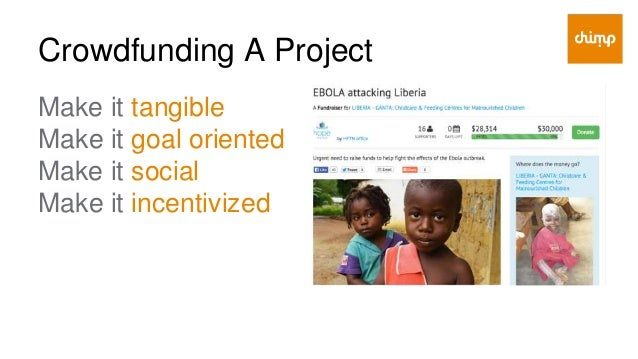 Crowdfunding A Project Make it tangible ● What are you hoping to raise, by when, to impact who and how? ● What does my don...