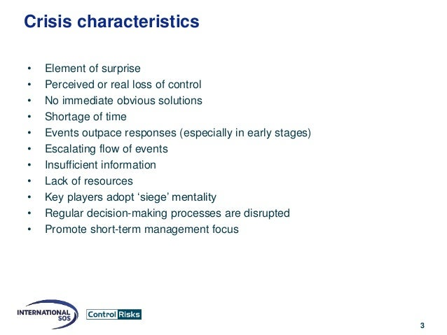 characteristics of crisis management