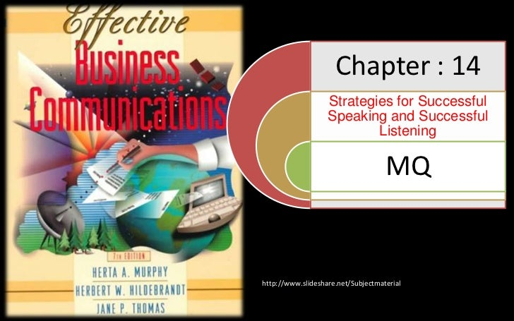 Chapter : 14                   Strategies for Successful                   Speaking and Successful                        ...
