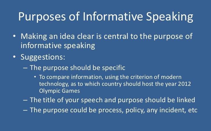 informative and persuasive presentations