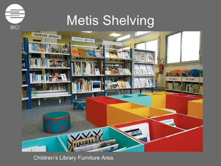 Metis Shelving Childrenu0027s Library Furniture Area.