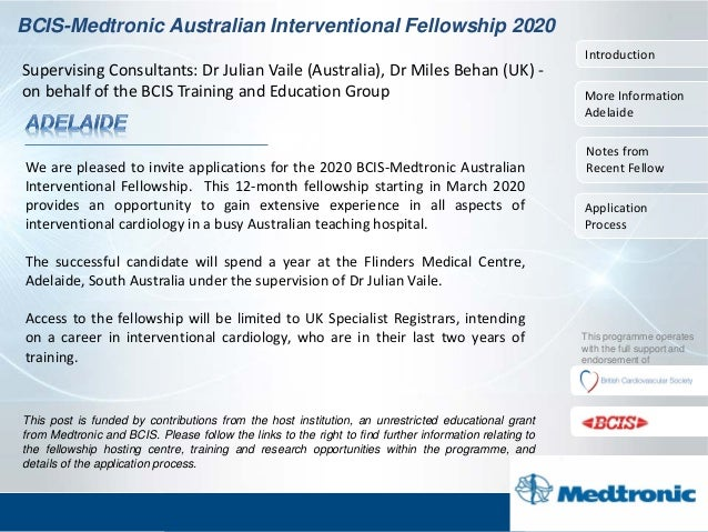 Bcis 2020 fellowship programme adelaide
