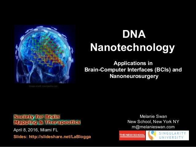 April 8, 2016, Miami FL Slides: http://slideshare.net/LaBlogga DNA Nanotechnology Applications in Brain-Computer Interface...