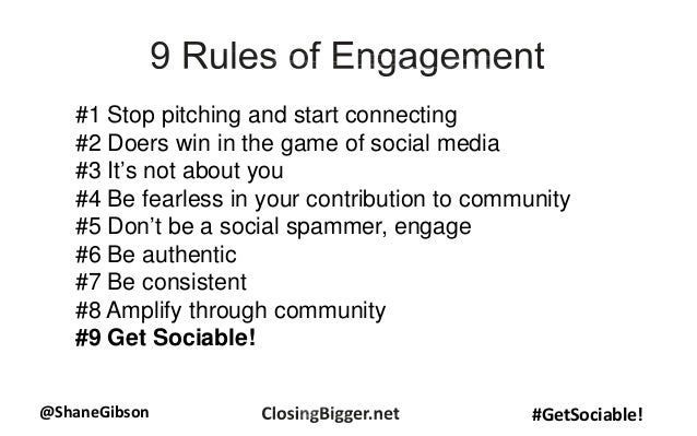 @ShaneGibson #GetSociable! #1 Stop pitching and start connecting #2 Doers win in the game of social media #3 It's not abou...