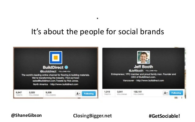 @ShaneGibson #GetSociable! It's about the people for social brands