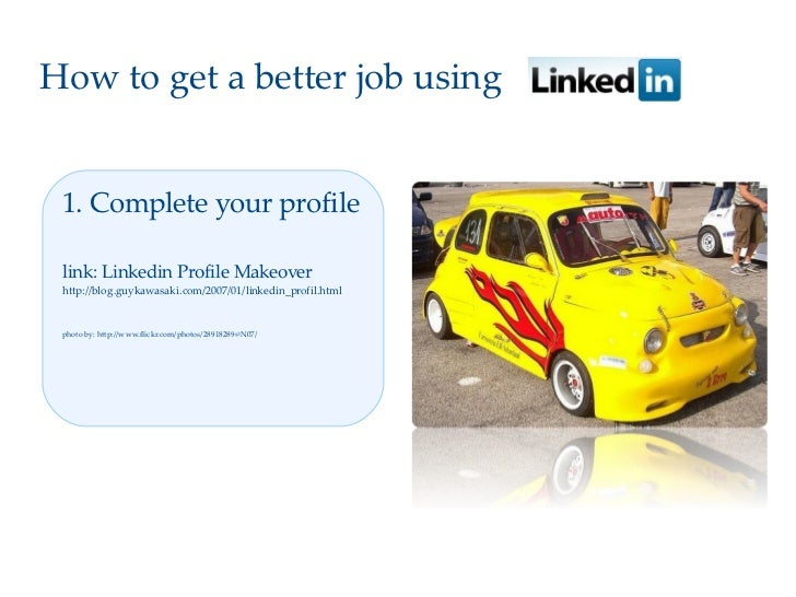 How to get a better job with Linkedin