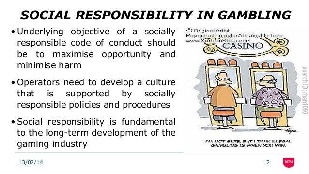 Gambling social responsibility discount roulette wheel