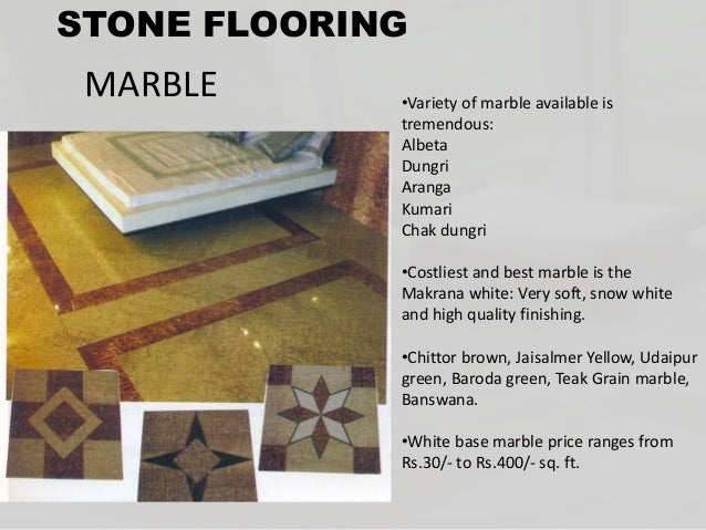 Beautiful Types Of Stones Used In Flooring MARBLE GRANITE ...