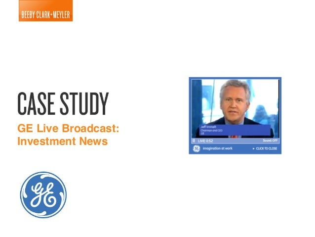 GE Live Broadcast:! Investment News!