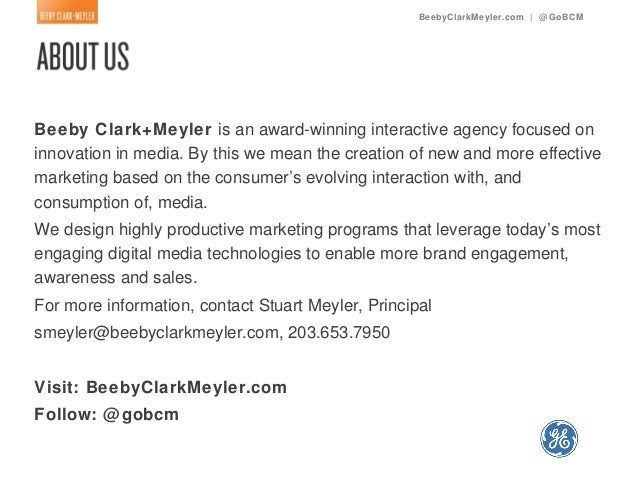 BeebyClarkMeyler.com | @ GoBCMBeeby Clark+Meyler is an award-winning interactive agency focused oninnovation in media. By ...