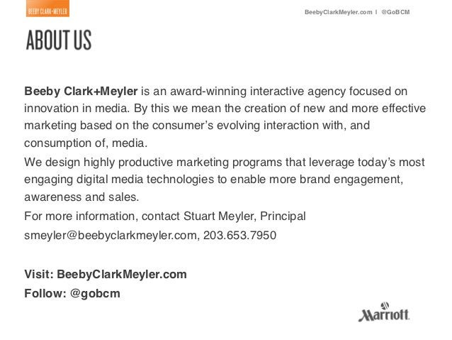 BeebyClarkMeyler.com | @GoBCM!Beeby Clark+Meyler is an award-winning interactive agency focused oninnovation in media. By ...