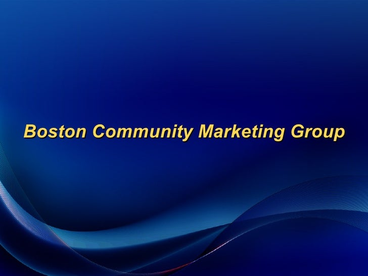 Boston Community Marketing Group