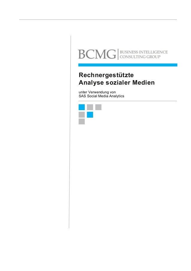 Rechnergestützte Analyse sozialer Medien unter Verwendung von SAS Social Media Analytics