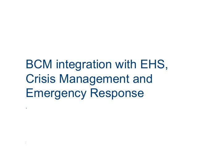 crisis management and response Bu: business unit cso: chief security officer crisis management crisis  management (cm) is the overall coordination of an organization's response to a  crisis.