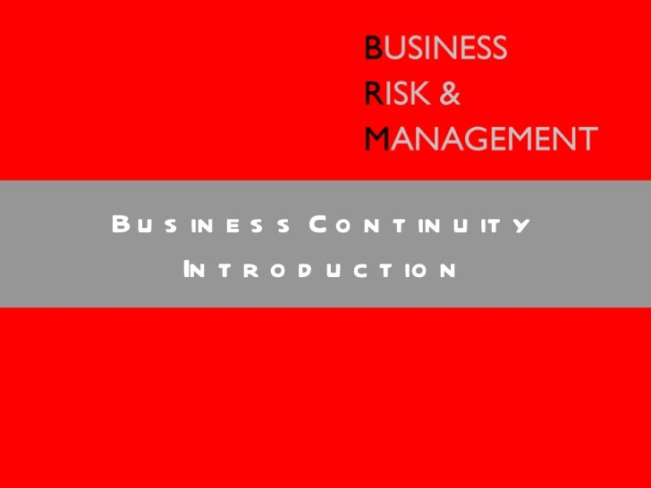Business Amp Management Consultants : Bcm training part introduction to business risk