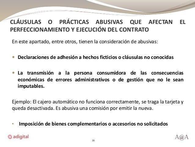 Condiciones generales de la contrataci n y cl usulas abusivas for Que es una clausula