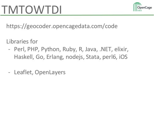 Making the entire world accessible via a single API - the OpenCage Ge…