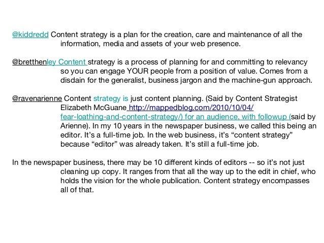 BarCamp Nashville 2010 - Content Strategy Takeaway Slide 2