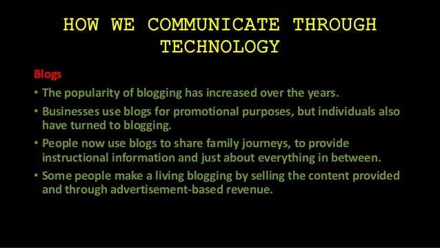 Negative Effects of Technology on Communication