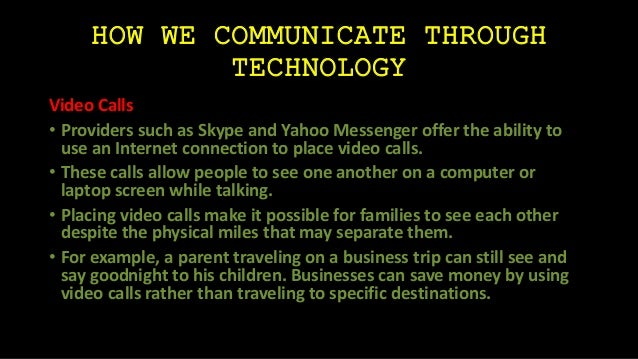 Online chatting through yahoo messenger