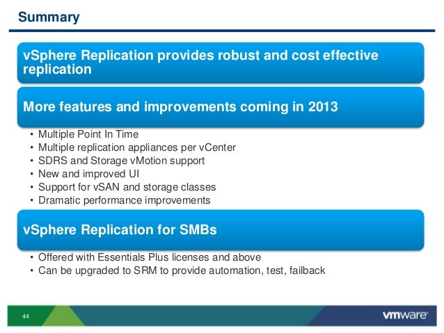 VMworld 2013: VMware vSphere Replication: Technical Walk