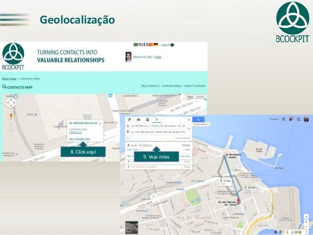 Geolocalização8. Clickaqui9. Veja rotas