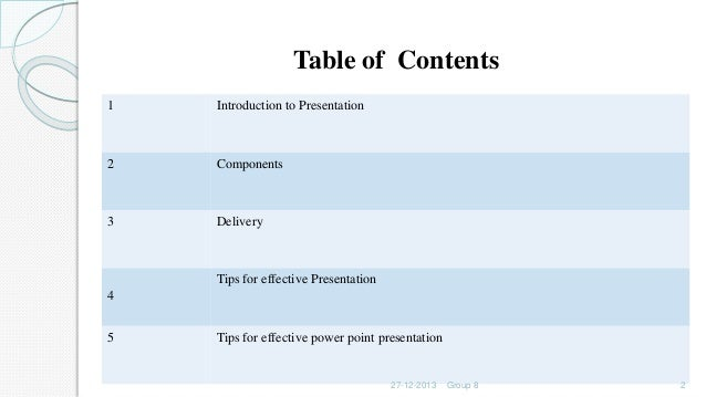 presentation capabilities together with tips
