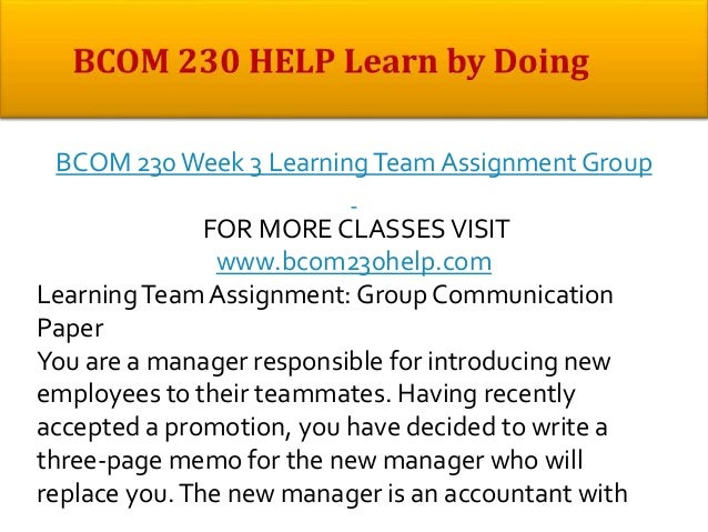 bcom 230 communication and the audience Transcript of bcom 230 week 4 learning team assignment communication and the audience bcom 230 week 4 learning team assignment communication and the audience click the link:.