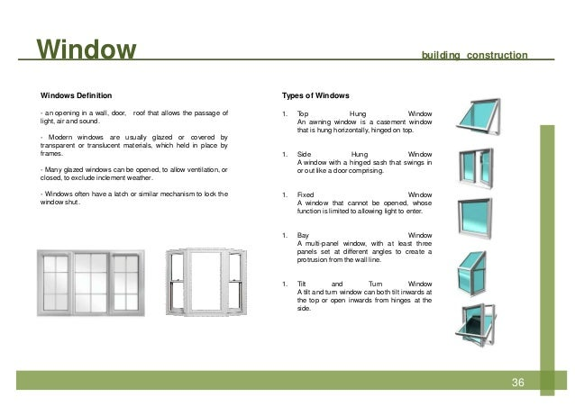 Building construction for Window definition