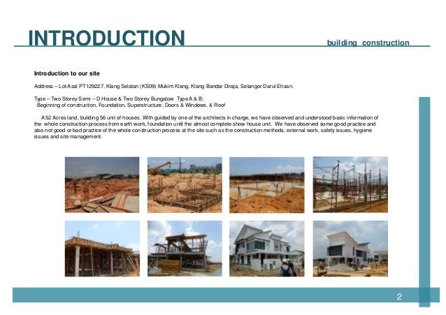 Awesome ... Ong Yii Siang; 4. INTRODUCTION Building Construction ...