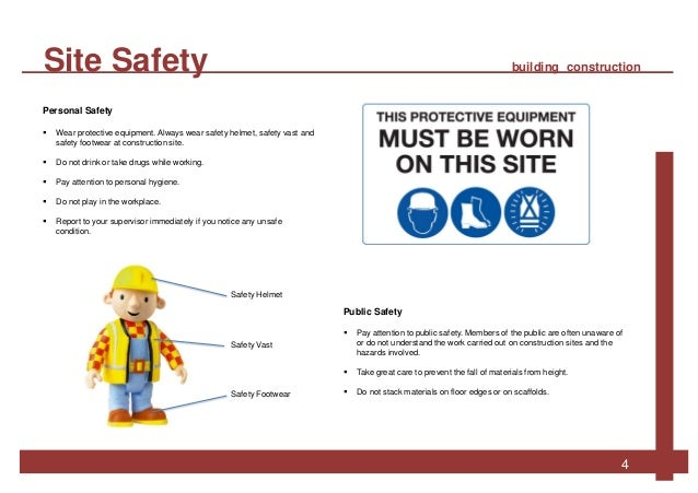safety in building construction and construction Creating a safe working environment on construction sites is a joint effort read  about responsibilities and obligations and get advice on accident prevention.