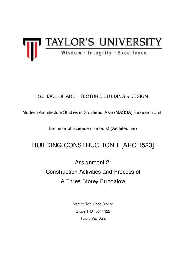 SCHOOL OF ARCHITECTURE, BUILDING & DESIGN Modern Architecture Studies in Southeast Asia (MASSA) ResearchUnit Bachelor of S...