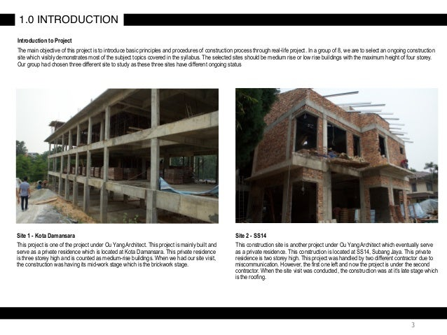 Building construction project 01 final report 3 3 introduction to project the main objective altavistaventures Gallery