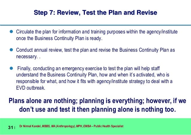 Business continuity planning for emergencies like ebola virus disease 31 fandeluxe Images