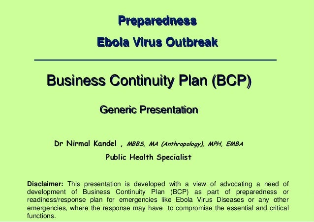 Dr Nirmal Kandel, MBBS, MA (Anthropology), MPH, EMBA – Public Health Specialist 1 | Preparedness Ebola Virus Outbreak Busi...
